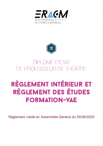 Règlement intérieur et règlement des études - Formation/VAE