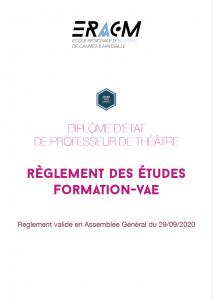 Règlement des études - Formation/VAE
