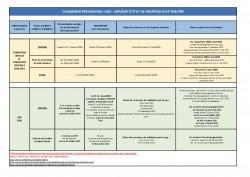 Calendrier des 3 écoles DE 2020-2021